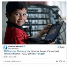 El técnico informático mas joven del mundo.