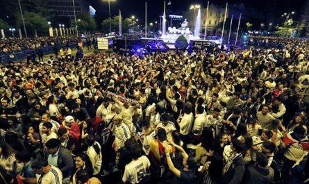 Celebración Campeonato de liga en Cibeles años anteriores.