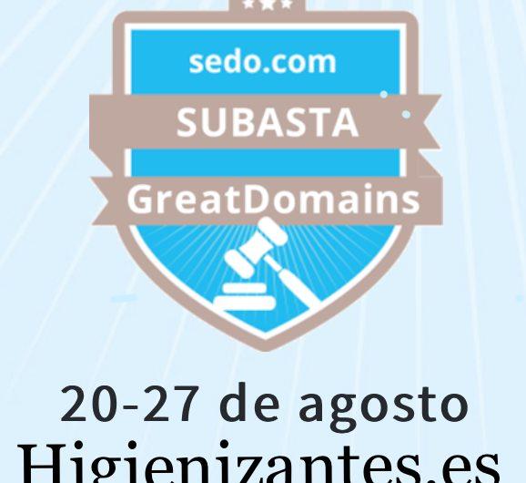 Higienizantes.es dominio premium en subasta greatdomains de sedo.com